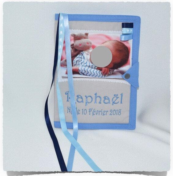 Protége carnet de santè personnalisé PHOTO BEBE RAPHAEL