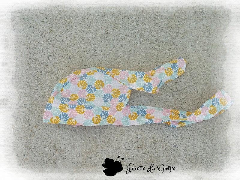 Chapeau foulard origami rose orange3