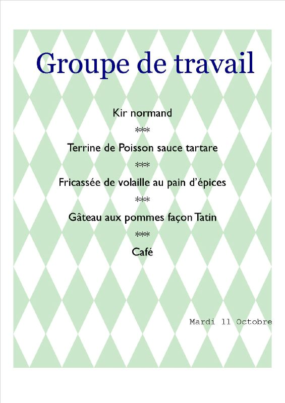 menu de groupe travail 11