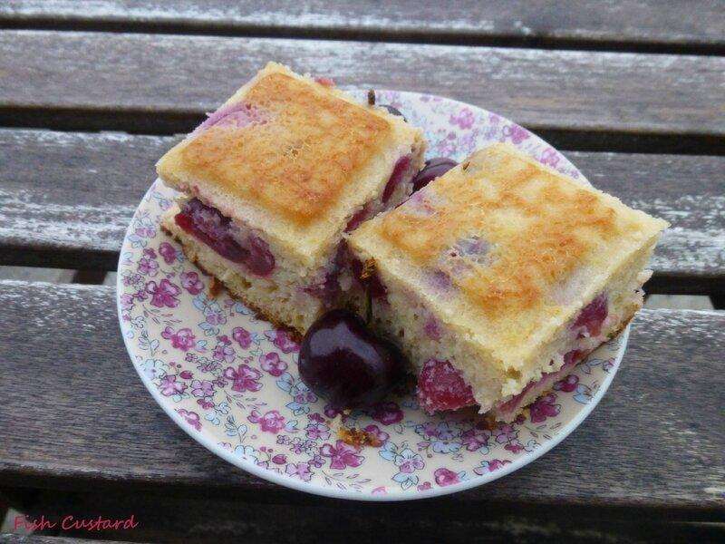 Gâteau aux cerises, amandes et ricotta (31)