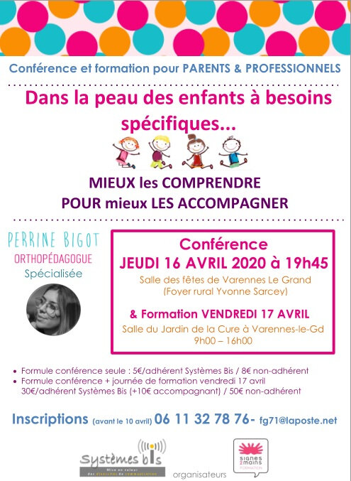 Conférence du 16 avril 2020 - Dans la peau des enfants à besoins spécifiques