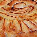 Flan aux pommes, sans gluten sans caséine