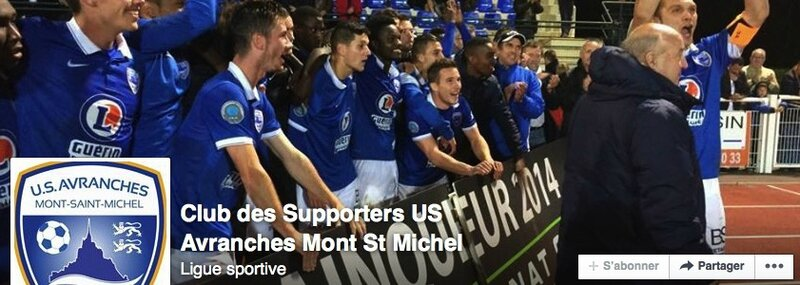 club des supporters US Avranches football bannière facebook
