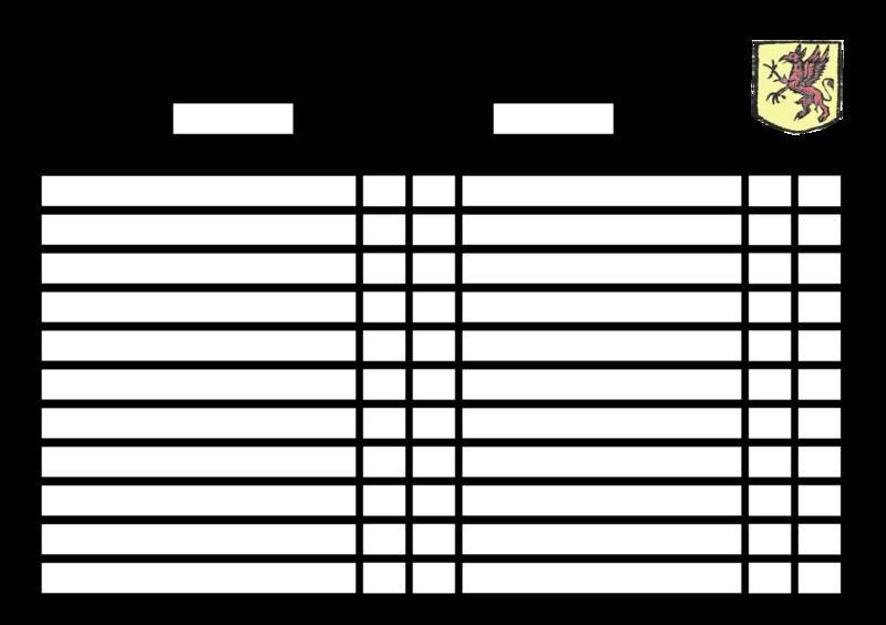 feuille d'armée CF