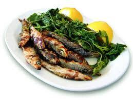 sardines grillees avec horta