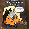 Le chat passe à table - philippe geluck (casterman)