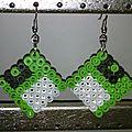 Boucles d'oreilles en perles hama midi