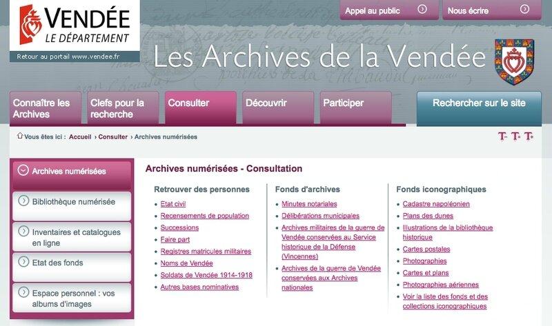 Archives de la Vendee