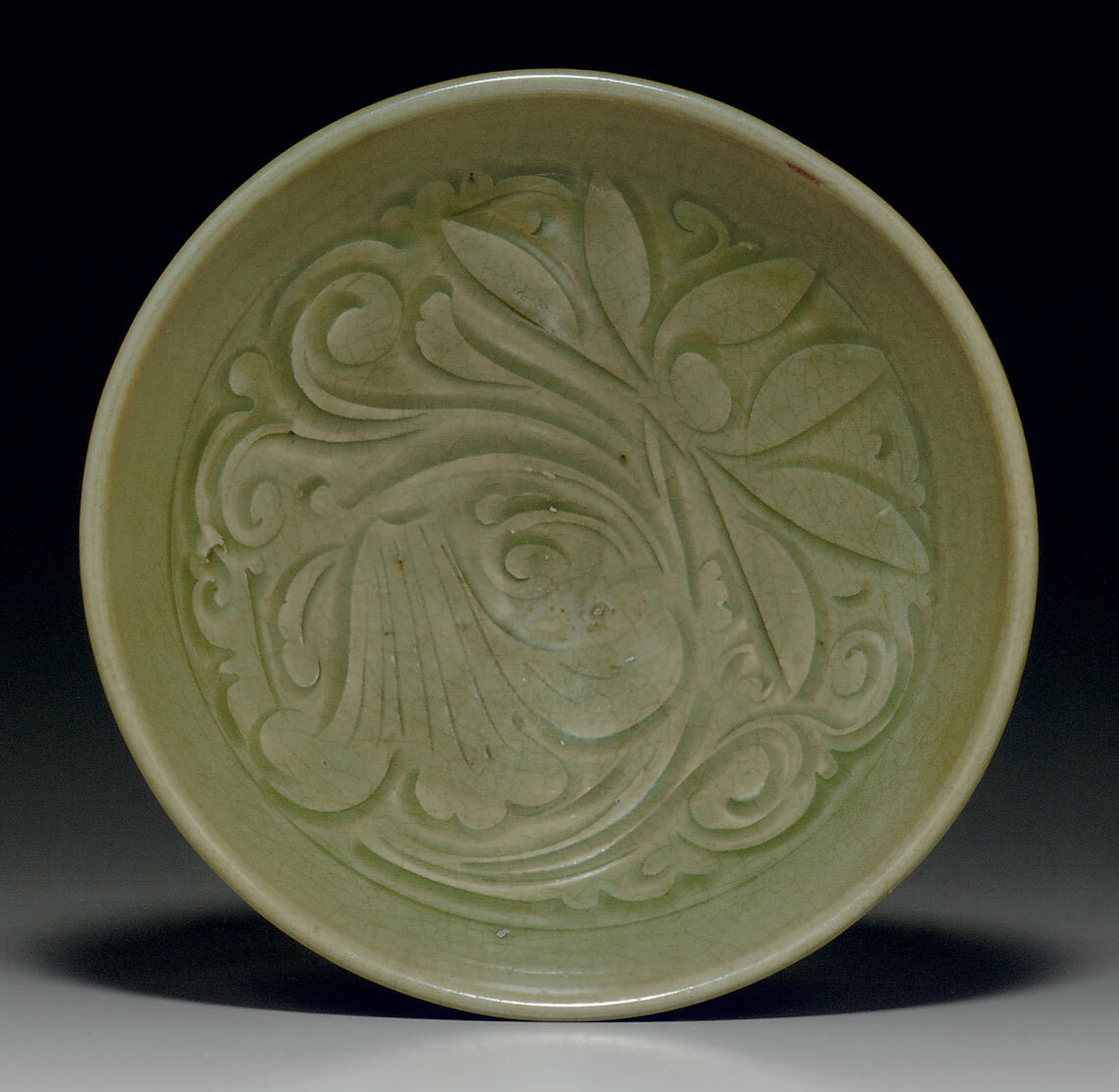 A Yaozhou celadon carved bowl, Northern Song dynasty, 11th-12th century