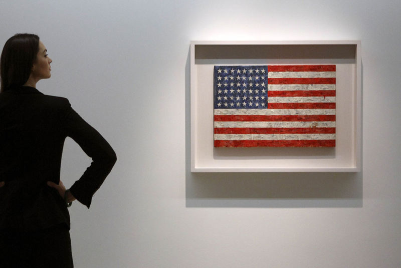 520d52ac207 Flag Flies at Christie s Sale - Record for Jasper Johns Whose Flag Sells  for  28.6 Million