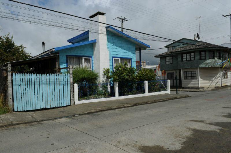 Chiloé Quemchi Maison bleue clair