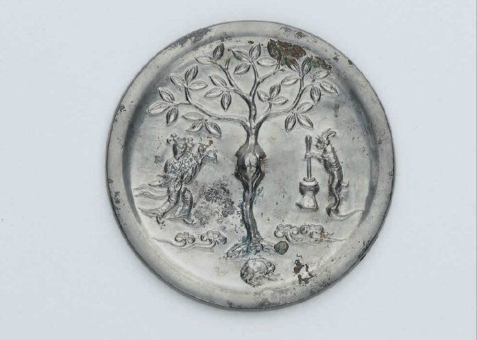 A small bronze 'Moon Palace' mirror, Tang dynasty (618-307)