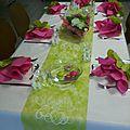 Apres le faire part fleur voici la deco de l evenement...