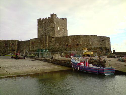 Carrickfergus Castle, sur la route vers les Giant's Causeway