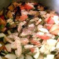 ajoutez tomates/ herbes/ courgette