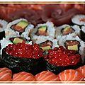 Maki sushi au macro