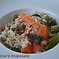 Riz aux légumes printaniers