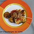Brochettes de thon et légumes ww