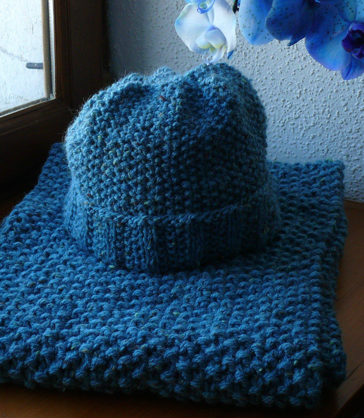 Risoux ensemble bonnet et echarpe