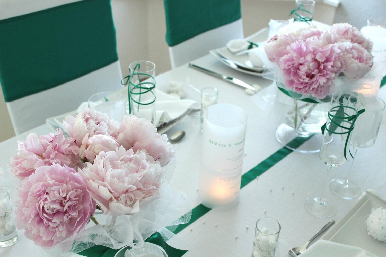 Table Mariage Vert Bonheur
