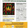 Exposition a rambouillet : la peinture tibetaine contemporaine