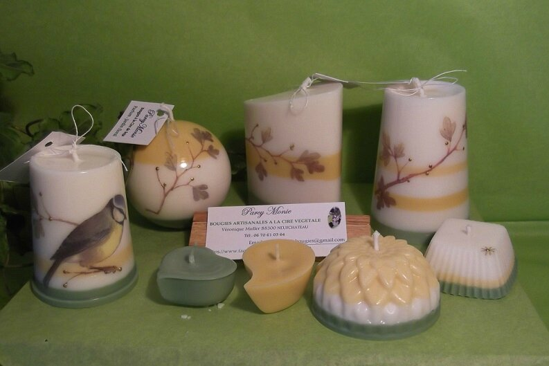 Bougies artisanales de Veronique Muller