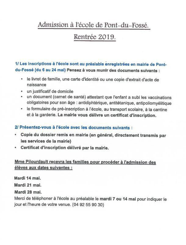 inscription ecole rentree2019