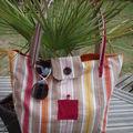 grand sac, shopping, promenade 50€