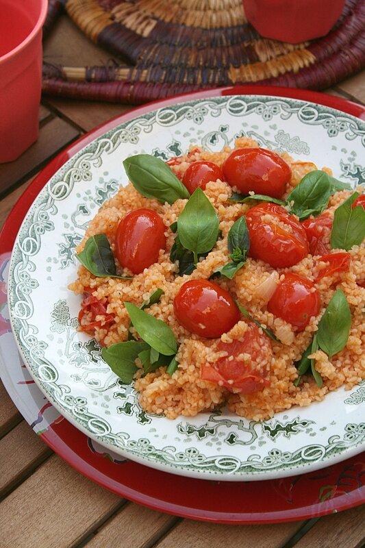 Boulghour à la tomate cerise et basilic - passion culinaire
