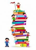 kids_climb_a_stack_of_books_311563