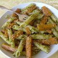 Pâtes aux carottes et pesto