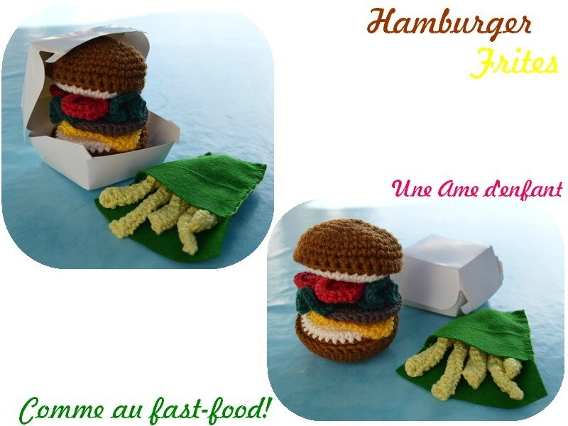 hamburger frites