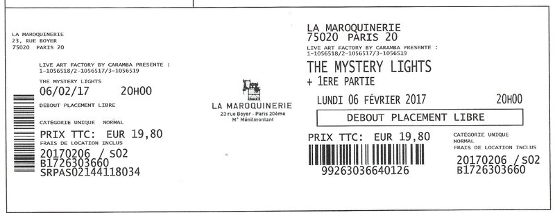 2017 02 06 The Mystery Lights Maroquinerie Billet