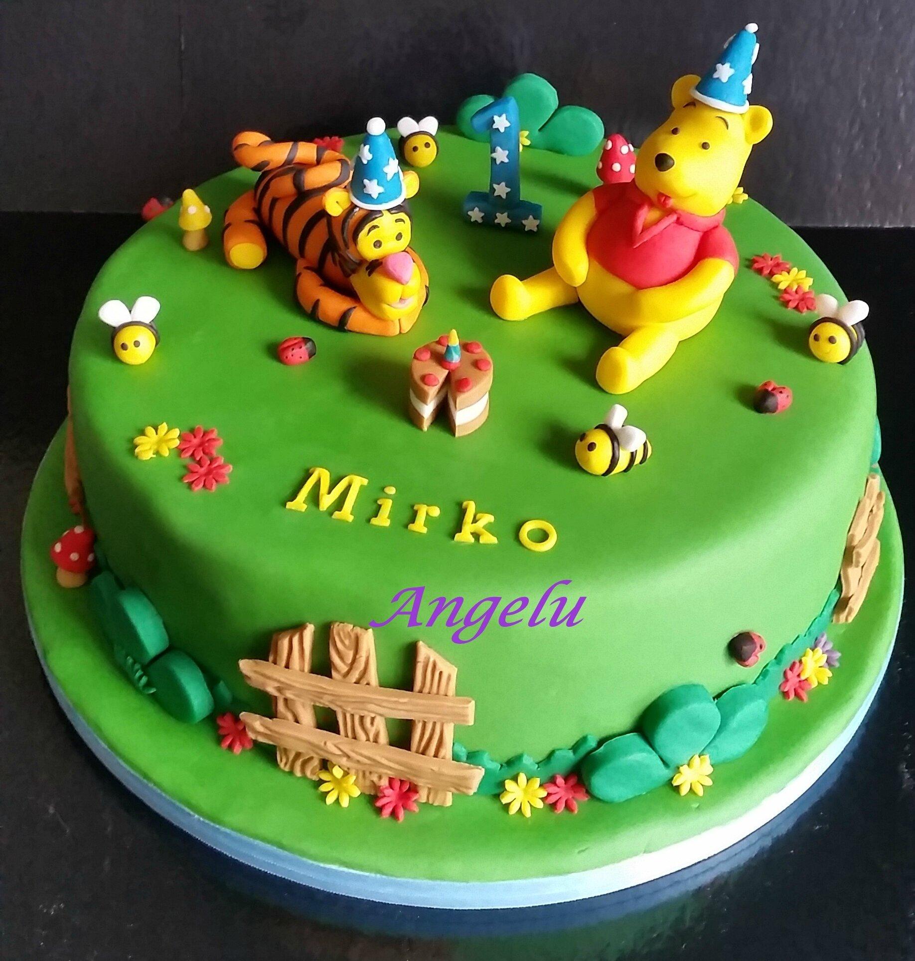 Gâteau Winnie et Tigrou 1 an , MA PETITE PATISSERIE (Contact