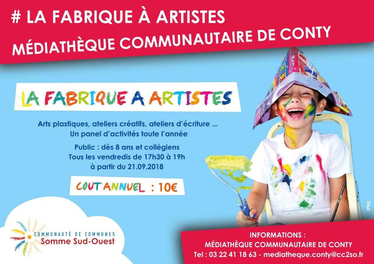 flyer fabrique a artistes