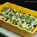 Cannellonis à la ricotta, radicchio (ou salade de trévise ) et raisins secs
