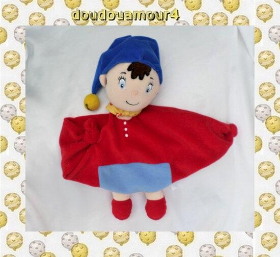 Doudou Peluche Plat Rouge Et Bleu Foulard OUI-OUI Jemini