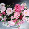 Bouquet de roses anciennes - 61 x 46