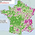 Carte électorale de marine le pen (2002-2012 et 2007-2012)