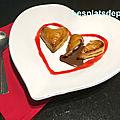Cœur framboise chocolaté – saint-valentin