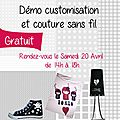 Démo customisation le 20 avril rdv au magasin !