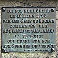 L'Oie (85) – Croix de la bataille de la Guérinière (1949)