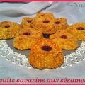 Biscuits savarins aux sésames