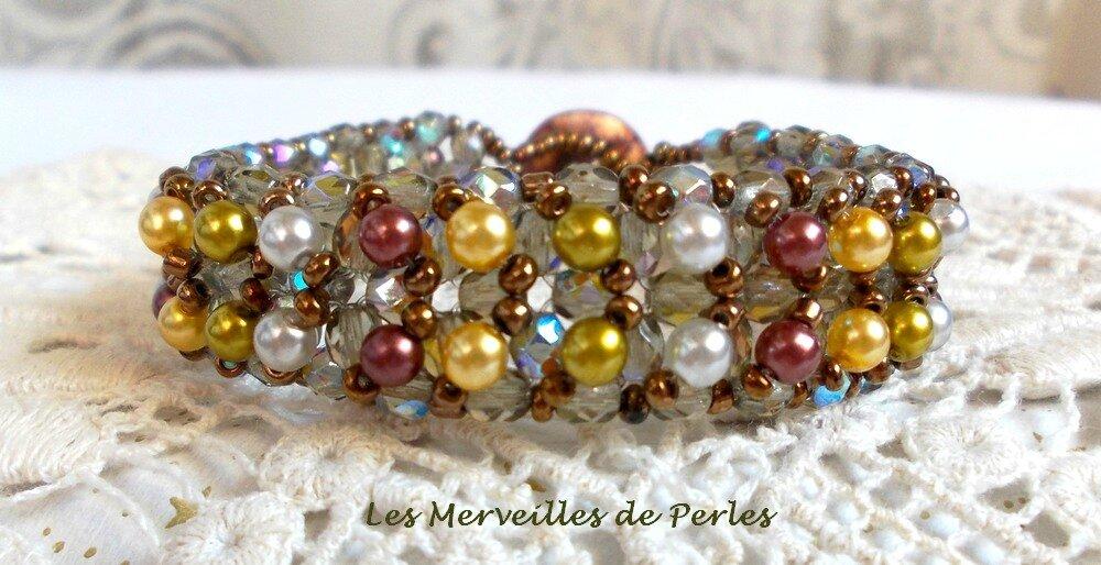 Bracelet Boutons Nacrées