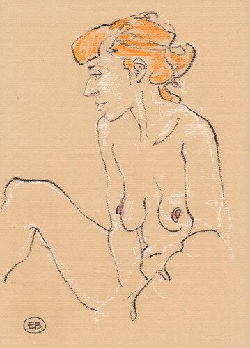 #croquisdenu modele vivant living model Etienne Bonnet Croquis nu dessin peinture Golden Blog Awards nude drawing sketch B MDS00768