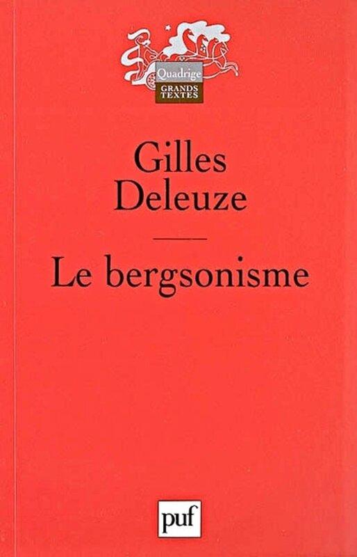 Le bergsonisme Deleuze couv