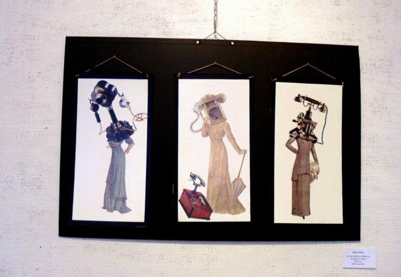 H.MERY : Les Demoiselles du téléphone, collage
