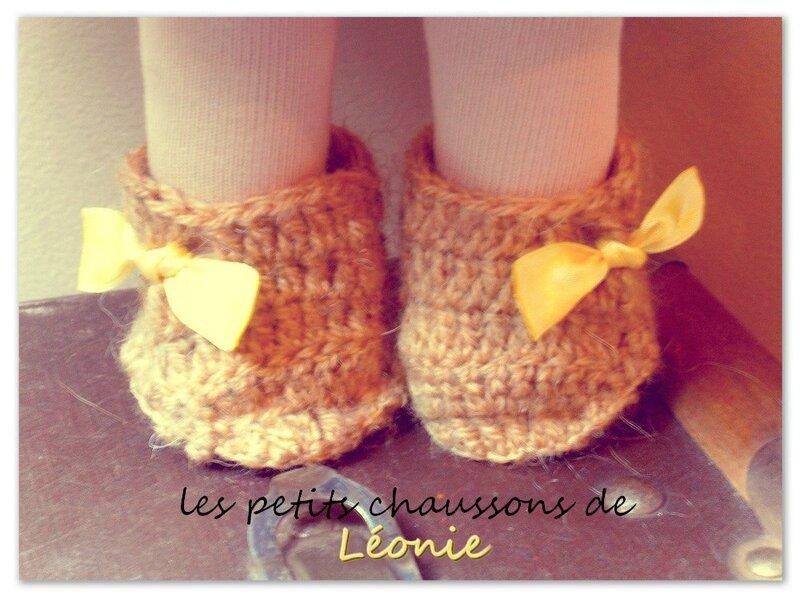 Chaussures crochetées pour poupée