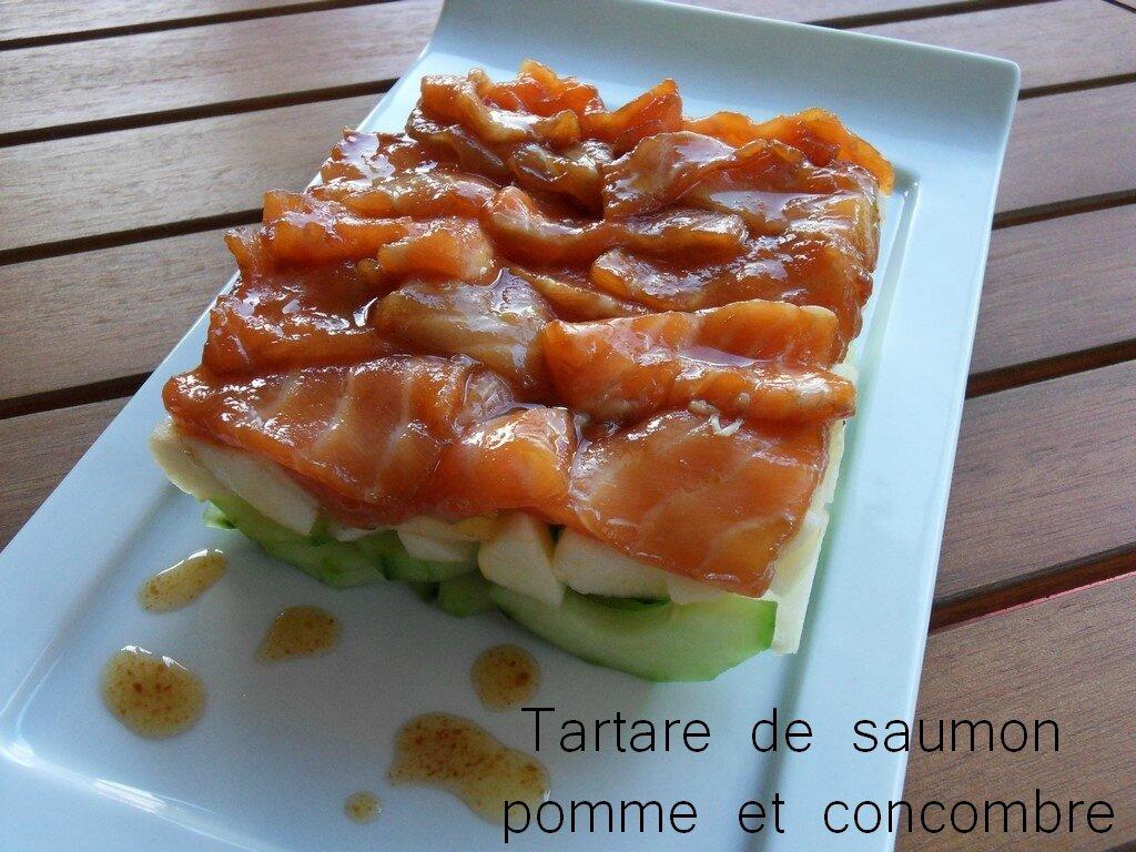 TARTARE DE SAUMON ET CONCOMBRE