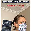 tuto masque barriere